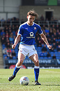 Chesterfield defender Sid Nelson (35) during the EFL Sky Bet League 2 match between Chesterfield and Notts County at the b2net stadium, Chesterfield, England on 25 March 2018. Picture by Jon Hobley.