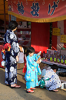 Furin Windchimes Festival, Kawasaki - The notoriously muggy summers in Japan have led to various ways to beat the heat.  Increasingly popular are cool summer kimono, made of cotton, that people are starting to wear again out on the streets especially at festival times.