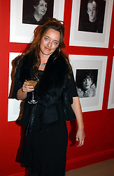 Fashion designer ALICE TEMPERLEY at a private view of an exhibition of photographs by the late Robert Mapplethorpe curated by artist David Hockney at the Alison Jacques Gallery, 4 Clifford Street, London W1 on 13th January 2005.<br /><br />NON EXCLUSIVE - WORLD RIGHTS