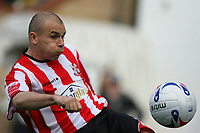Photo: Pete Lorence.<br />Lincoln City v Stockport County. Coca Cola League 2. 07/04/2007.<br />Jamie Forrester in action.
