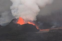 June 15, 2018 - Hawaii, U.S. - Photograph taken during helicopter overflight captures fissure 8 lava fountain. (Credit Image: © USGS/ZUMA Wire/ZUMAPRESS.com)