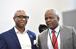 South Africa: Johannesburg: The African National Congress (ANC) head of presidency Zizi Kodwa and Deputy Minister of Finance Mondli Gungubele, at the state capture inquiry as finance minister Nhlanhla Nene testifies, the inquiry is investigating allegations of corruption centred around the controversial Gupta family. Gauteng.<br /> 03.10.2018<br /> Picture: Itumeleng English/African News Agency (ANA)