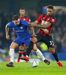 Chelsea's Danny Drinkwater (left) and AFC Bournemouth's Jordon Ibe battle for the ball