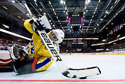 Dennis Karlsson takes puck out of net after Canada scoring their third goal at IIHF In-Line Hockey World Championships Top Division Bronze medal game between National teams of Canada and Sweden on July 4, 2010, in Karlstad, Sweden. (Photo by Matic Klansek Velej / Sportida)