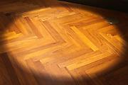 parquet floor with spotlight