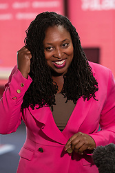 © Licensed to London News Pictures . 21/09/2019. Brighton, UK. DAWN BUTLER in the conference centre ahead of the start of the 2019 Labour Party Conference from the Brighton Centre . Photo credit: Joel Goodman/LNP
