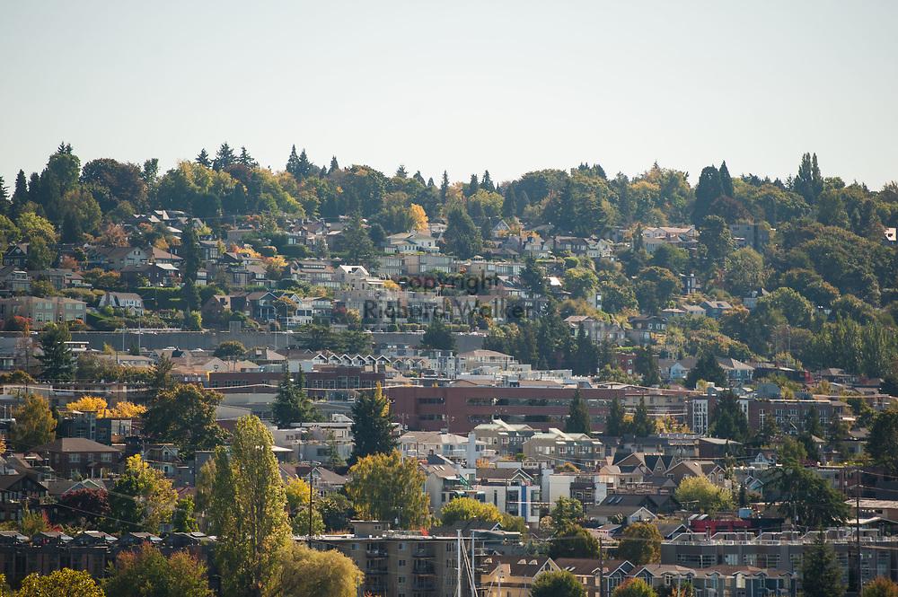 2017 October 03 - Homes on hill over Eastlake, Seattle, WA, USA. By Richard Walker