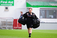 Lincoln City's first team development coach Richard O'Donnell during the pre-match warm-up<br /> <br /> Photographer Andrew Vaughan/CameraSport<br /> <br /> The EFL Sky Bet League One - Saturday 12th September  2020 - Lincoln City v Oxford United - LNER Stadium - Lincoln<br /> <br /> World Copyright © 2020 CameraSport. All rights reserved. 43 Linden Ave. Countesthorpe. Leicester. England. LE8 5PG - Tel: +44 (0) 116 277 4147 - admin@camerasport.com - www.camerasport.com - Lincoln City v Oxford United