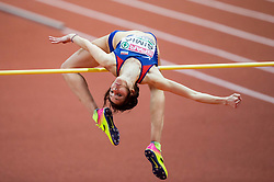 Ana Šimić of Croatia competes in the High Jump Women Final on day two of the 2017 European Athletics Indoor Championships at the Kombank Arena on March 4, 2017 in Belgrade, Serbia. Photo by Vid Ponikvar / Sportida