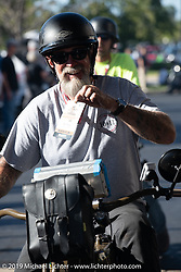 Bill Page on the Motorcycle Cannonball coast to coast vintage run. Stage 5 (229 miles) from Bowling Green, OH to Bourbonnais, IL. Wednesday September 12, 2018. Photography ©2018 Michael Lichter.