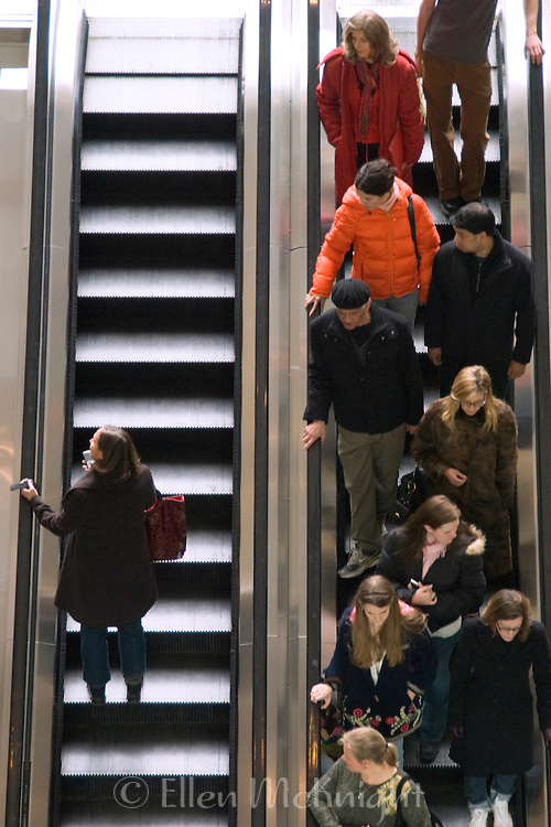Escalators at the Time Warner Center in New York City