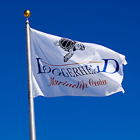 The logo flag of a non-profit education and ocean conservation facility located on the Atlantic Ocean in north Palm Beach County city of Juno Beach. The facility houses a variety of exhibits, live sea turtles and other coastal creatures.