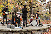 The Mike Mo Quartet with an addition. Donald Malloy (trumpet), Steve Wood (bass), Mike Mohamed (drums),
