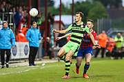 Forest Green Rovers Christian Doidge(9) controls the ball during the Vanarama National League first leg play off match between Dagenham and Redbridge and Forest Green Rovers at the London Borough of Barking and Dagenham Stadium, London, England on 4 May 2017. Photo by Shane Healey.