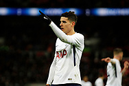 Erik Lamela of Tottenham Hotspur looks on.  The Emirates FA Cup, 4th round replay match, Tottenham Hotspur v Newport County at Wembley Stadium in London on Wednesday 7th February 2018.<br /> pic by Steffan Bowen, Andrew Orchard sports photography.