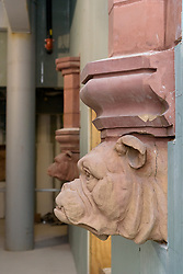 Boathouse at Canal Dock Phase II | State Project #92-570/92-674 Construction Progress Photo Documentation No. 17 on 1 December 2017. Image No. 16  Salvaged Terra-Cotta Yale Bulldog Head from the Adee Boathouse