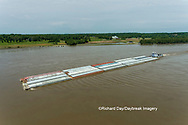63807-01208 Barge on the Mississippi river near Thebes, IL