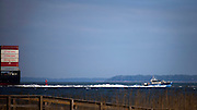 The Yang Ming Eminence sails up river to the Georgia Ports Authority Garden City Terminal, Tuesday, Nov. 11, 2014, near Tybee Island, Ga. and past Savannah, Ga.  (GPA Photo/Stephen B. Morton)