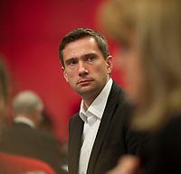 DEU, Deutschland, Germany, Berlin, 11.12.2015: Der SPD-Landesvorsitzende und Wirtschaftsminister in Sachsen, Martin Dulig (SPD), beim Bundesparteitag der SPD im CityCube.