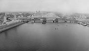 Composite of Morrison Bridge grand opening. May 24, 1958.
