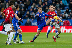February 3, 2019 - Leicester, England, United Kingdom - Harvey Barnes of Leicester City tangles with Ander Herrera of Manchester United during the Premier League match between Leicester City and Manchester United at the King Power Stadium, Leicester on Sunday 3rd February 2019. (Credit Image: © Mi News/NurPhoto via ZUMA Press)