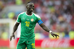June 19, 2018 - Moscow - Sadio Mane of Senegal during the 2018 FIFA World Cup Group H match between Poland and Senegal at Spartak Stadium in Moscow, Russia on June 19, 2018  (Credit Image: © Andrew Surma/NurPhoto via ZUMA Press)