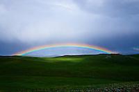 Mongolie, province de Bayankhongor, paysage de steppe // Mongolia, Bayankhongor province, steppe landscape