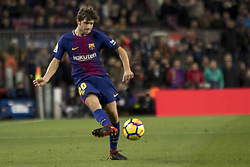 December 17, 2017 - Barcelona, Catalonia, Spain - Sergi Roberto during the spanish league match between FC Barcelona and Deporitvo de La Coruña at the Camp Nou Stadium in Barcelona, Catalonia, Spain on December 17,2017  (Credit Image: © Miquel Llop/NurPhoto via ZUMA Press)