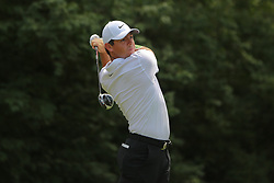 August 9, 2018 - St. Louis, Missouri, U.S. - Rory McIlroy tees off during the first round of the 100th PGA Championship at Bellerive Country Club. (Credit Image: © Debby Wong via ZUMA Wire)