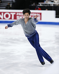 February 7, 2019 - Los Angeles, California, U.S - Harrison Jon-Yen Wong of Hong Kong, China competes in the Men Short Program during the ISU Four Continents Figure Skating Championship at the Honda Center in Anaheim, California on February 7, 2019. (Credit Image: © Ringo Chiu/ZUMA Wire)
