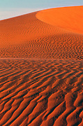 Sand dunes, surrounding Chinguetti, a town in the midst of the Sahara Desert in Mauritania.