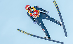 29.01.2017, Casino Arena, Seefeld, AUT, FIS Weltcup Nordische Kombination, Seefeld Triple, Skisprung, im Bild Johannes Rydzek (GER) // Johannes Rydzek of Germany in action during his Competition Jump of Skijumping of the FIS Nordic Combined World Cup Seefeld Triple at the Casino Arena in Seefeld, Austria on 2017/01/29. EXPA Pictures © 2017, PhotoCredit: EXPA/ JFK