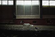 Un senzatetto dorme per le strade della capitale, Addis Ababa 9 settembre 2014.  Christian Mantuano / OneShot <br /> <br /> A homeless man sleeping on the streets of the capital, Addis Ababa September 9, 2014. Christian Mantuano / OneShot