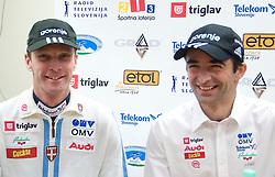 Matjaz Zupan and Franci Petek at press conference of Slovenian Nordic team, on December 15, 2008, in Ljubljana, Slovenia. (Photo by Vid Ponikvar / Sportida)