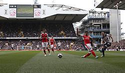 30 April 2017 London : Premier League Football : Tottenham Hotspur v Arsenal :<br /> Harry Kane of Tottenham shoots.<br /> Photo: Mark Leech