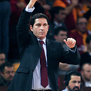 FC Barcelona Regal's coach Xavier PASCUAL during their Euroleague group D matchday 5 Galatasaray between  FC Barcelona Regal at the Abdi Ipekci Arena in Istanbul at Turkey on Thursday, November 17 2011. Photo by TURKPIX