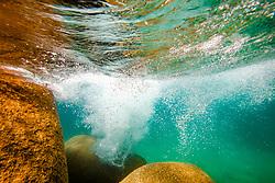 """Boulders Under Lake Tahoe 8"" - Underwater photograph taken while swimming at Secret Cove, Lake Tahoe."