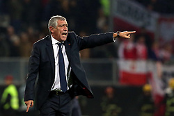 LISBON, Nov. 21, 2018  Head Coach Fernando Santos of Portugal gestures during the UEFA Nations League soccer match League A Group 3 between Portugal and Poland in Guimaraes, Portugal on Nov. 20, 2018. The match ended with a 1-1 tie. (Credit Image: © Catarina Morais/Xinhua via ZUMA Wire)