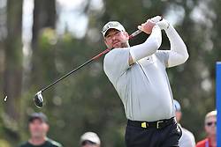 January 19, 2019 - Lake Buena Vista, FL, U.S. - LAKE BUENA VISTA, FL - JANUARY 19: Derek Lowe tees off on hole 2 during the third round of the Diamond Resorts Tournament of Champions on January 19, 2019, at Tranquilo Golf Course at Fours Seasons Orlando in Lake Buena Vista, FL. (Photo by Roy K. Miller/Icon Sportswire) (Credit Image: © Roy K. Miller/Icon SMI via ZUMA Press)