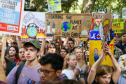 © Licensed to London News Pictures. 20/09/2019. London, UK. Tens of thousands of students of all ages take part in climate change global and general strike in Westminster. It is one of more than 150 events planned across the U.K. to demand urgent action to tackle climate change. Photo credit: Dinendra Haria/LNP