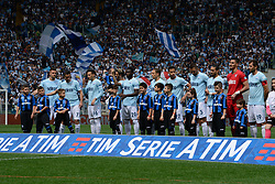 May 6, 2018 - Rome, Lazio, Italy - SS Lazio players before the Italian Serie A football match between S.S. Lazio and Atalanta at the Olympic Stadium in Rome, on may 06, 2018. (Credit Image: © Silvia Lore/NurPhoto via ZUMA Press)