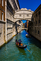 Looking from Bridge of Sighs to canal behind Doge's Palace, Venice, Italy.