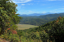 08 October 2016:   Scenic Foothills Parkway and Tail of the Dragon - Tennessee and North Carolina landscape scenic view of the Smoky Mountain National Park from the Foothills Parkway west of Townsend, TN
