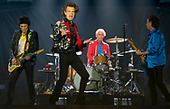Ronnie Wood, Charlie Watts, Mick Jagger and Keith Richards as the Rolling Stones perform at the Hard Rock Stadium in Miami Gardens on Friday, August 30, 2019