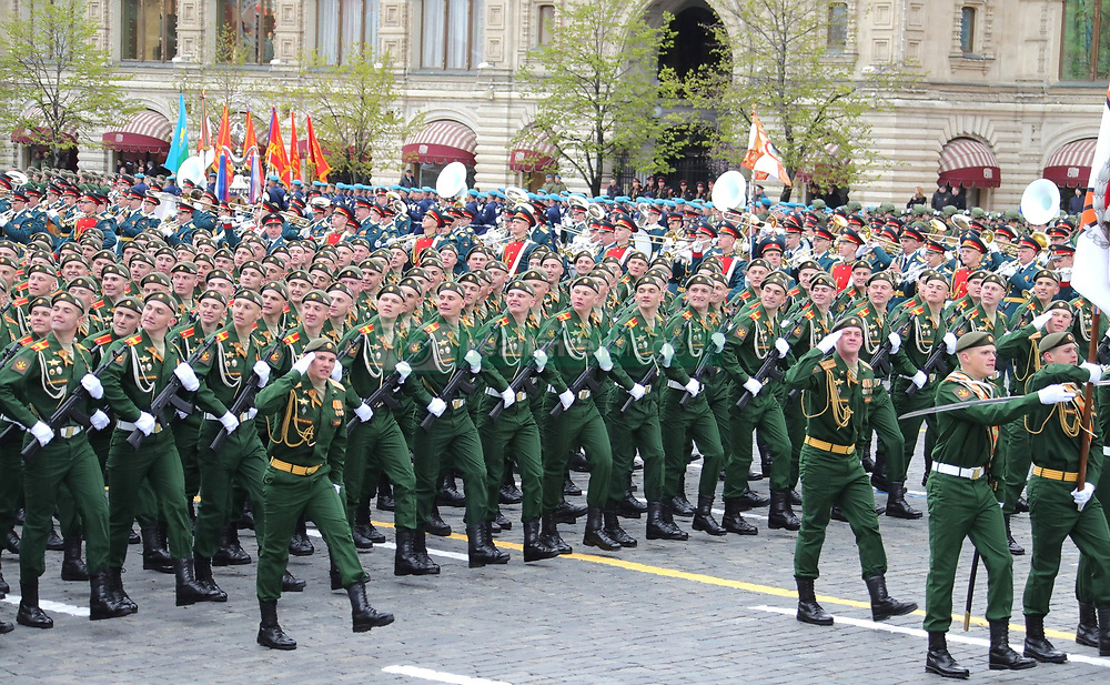 May 9, 2017 - Moscow, Russia - Russian commandos march past the reviewing stand during the annual Victory Day military parade marking the 72nd anniversary of the end of World War II in Red Square May 9, 2017 in Moscow, Russia. (Credit Image: © Kremlin Pool/Planet Pix via ZUMA Wire)