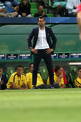 August 15, 2017 - Lisbon, Portugal - Steaua's head coach Nicolae Dica during the UEFA Champions League play-offs first leg football match between Sporting CP and FC Steaua Bucuresti at the Alvalade stadium in Lisbon, Portugal on August 15, 2017. Photo: Pedro Fiuza (Credit Image: © Pedro Fiuza via ZUMA Wire)