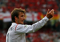 Photo: Glyn Thomas.<br /> England v Trinidad & Tobago. Group B, FIFA World Cup 2006. 15/06/2006.<br /> <br /> England's David Beckham.