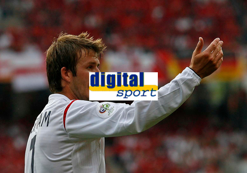 Photo: Glyn Thomas.<br /> England v Trinidad & Tobago. Group B, FIFA World Cup 2006. 15/06/2006.<br /> <br /> England's David Beckham.