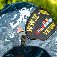 The veteran cap of Lawrence Talamante moments before he is taken to the WWII memorial for the D-Day ceremony in Washington D.C. Jun. 06.