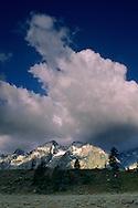 Teton Range dusted by first snowstorm of fall, Grand Teton Nat'l. Pk., WYOMING